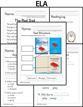 January Homework or Class Activities - Kindergarten & First Grade