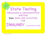 January Ideas and Activities for Persuasive and Argumentative Writing Practice