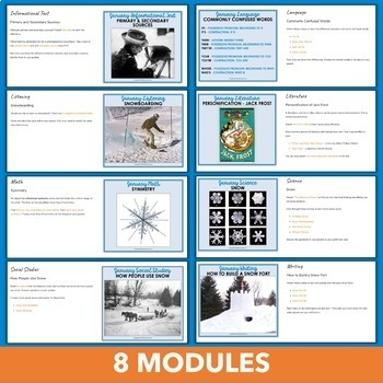 January Independent Learning Module (ILM) Winter Chromebook Activities