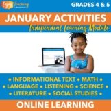 Winter Chromebook Activities - January ILM Early Finisher Activities