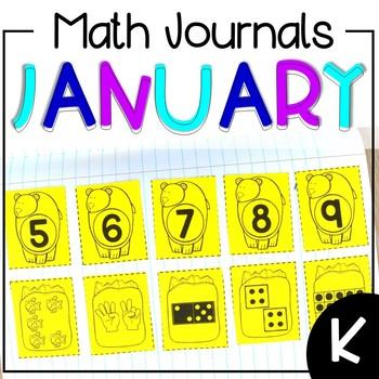 January Interactive Math Journal Kindergarten