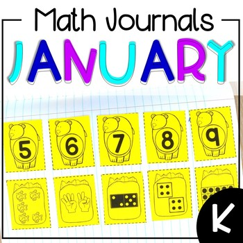 January Interactive Math Journal Kindergarten