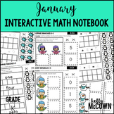 January Interactive Math Notebook Kindergarten