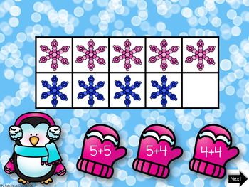 January Interactive Math Ten Frames