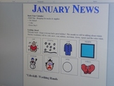 January Interactive Newsletter with Boardmaker Pictures an