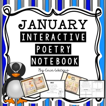 K-2 January Interactive Poetry Notebook {With Original Poems!}