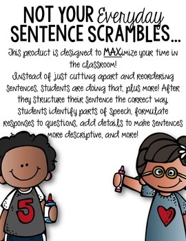 January Interactive Sentence Scrambles