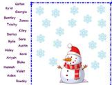 January Interactive Smartboard Attendance