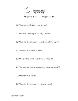 January Joker Reading Comprehension Questions