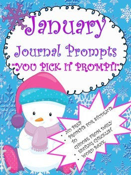 January Journal Booklet...YOU PICK IT...NO prep!!!