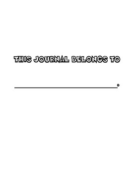 January Journal - A Page Border to Color and Daily Bible Verses to Write!