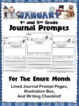 January Journal Prompts 1st And 2nd Grade By Door To Common Core