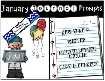 January Journal Prompts - NO PREP & PAPERLESS