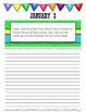 January Journal Prompts Printable Notebook Common Core W.1, W.2, W.3