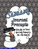 January Journal Prompts--Ready to Go Writing Activities