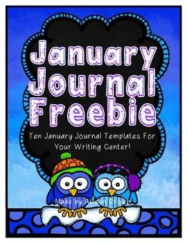 January Journal Templates {Writing Center}