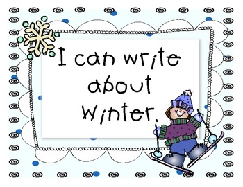 January Journal Topic for Kindergarten Level Guided Writing