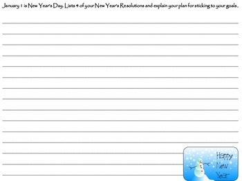 January Journal Writing Packet