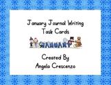 January Journal Writing Task Cards