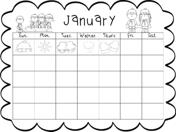 January Journal and Calendar Freebie