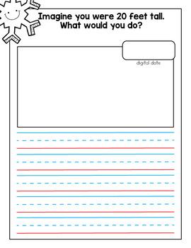 January Journal and Prompts {Kindergarten}