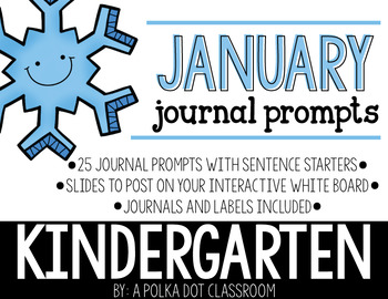 January Journal and Prompts {Kindergarten}