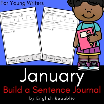 January Journal and Sketchbook for Beginner Writers - No Prep!