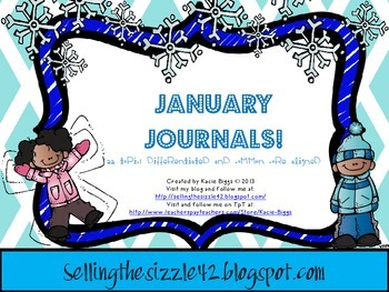 January Journals-22 Differentiated and Common Core Aligned Topics for January!