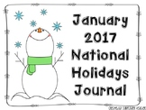 January Journals - National Holidays