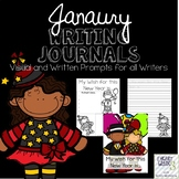 January Journals with Visual and Written Prompts