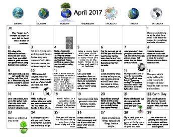 6 MONTHS of Early Learning Calendars- January-June 2017