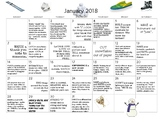 12 MONTHS of Early Learning Activity Calendars-January-December 2018