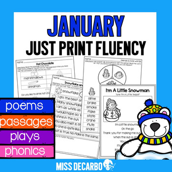 January Just Print Fluency Pack