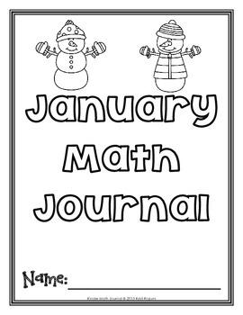 January Kinder Math Journal