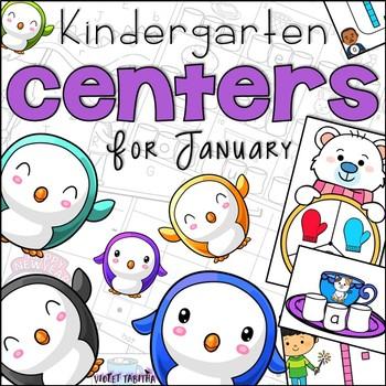 January Kindergarten 20 Centers (Math and Literacy)