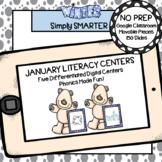 January Kindergarten Digital Literacy Centers For GOOGLE CLASSROOM