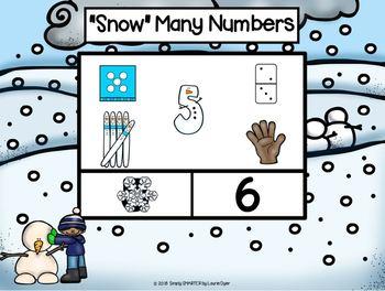 January Kindergarten Digital Math Centers For GOOGLE CLASSROOM