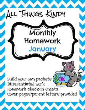 January Kindergarten Homework