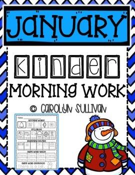 January Kindergarten Literacy Morning Work