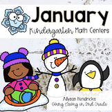 January Kindergarten Math Centers with Task Cards
