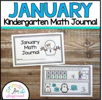 January Kindergarten Math Journal