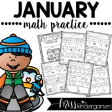 January Kindergarten Math Practice
