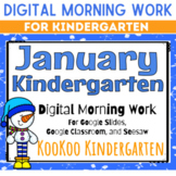 January Kindergarten Morning Work for Google Classroom