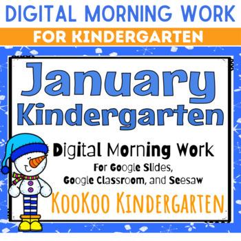 January Kindergarten Morning Work for Google Classroom
