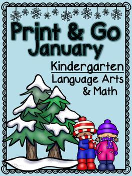 January Kindergarten Print and Go