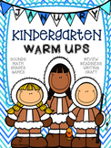 January Kindergarten Warm Ups Winter Activities, Fun and Skills CCSS