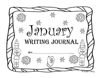 January Kindergarten Writing Prompts and Journal Pages (CCS Aligned)