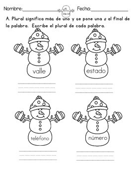 January Language Arts Homework For First Graders