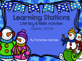 January Learning Stations-Kindergarten