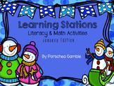 January Learning Stations-Kindergarten